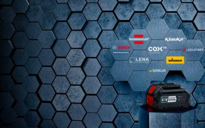 On pourra utiliser des batteries Bosch 18V sur des outils Brennenstuhl, Klauke et d'autres marques pro