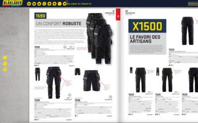 Des catalogues interactifs pour Blakläder !