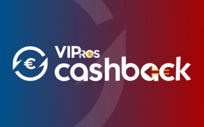 Cashback : les offres de remboursement arrivent sur VIPros.fr !